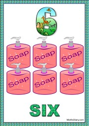 6 soap dispensers with soap