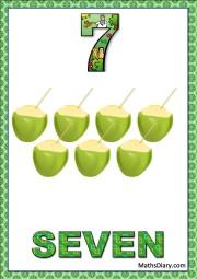 7 coconuts