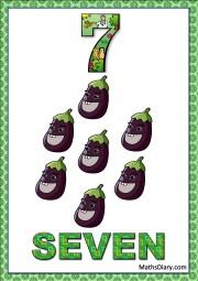 7 eggplants