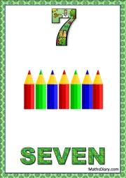 7 pencil colors