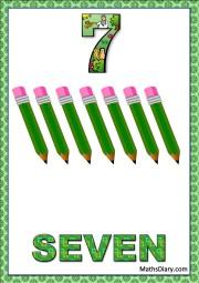 7 pencils