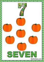 7 pumpkins