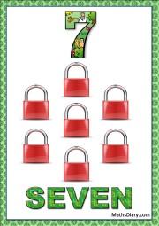 7 red locks