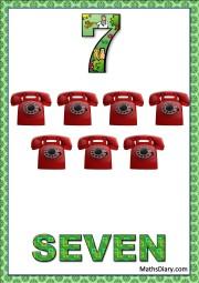 7 telephones