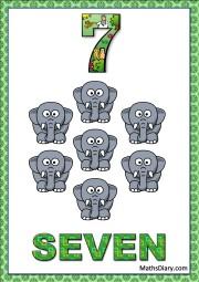 7 tiny elephants