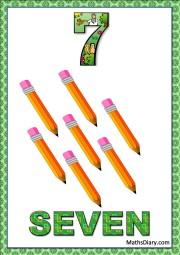 7 yellow pencils