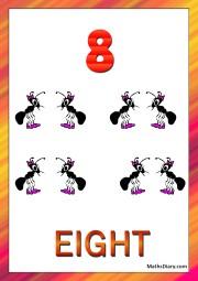 8 ants
