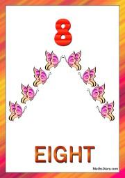 8 butterflies
