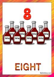 8 ketchup bottles