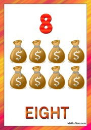 8 money bags