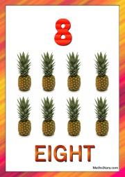 8 pineapples