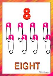 8 safety pins