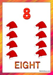 8 santa hats