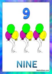 9 balloons