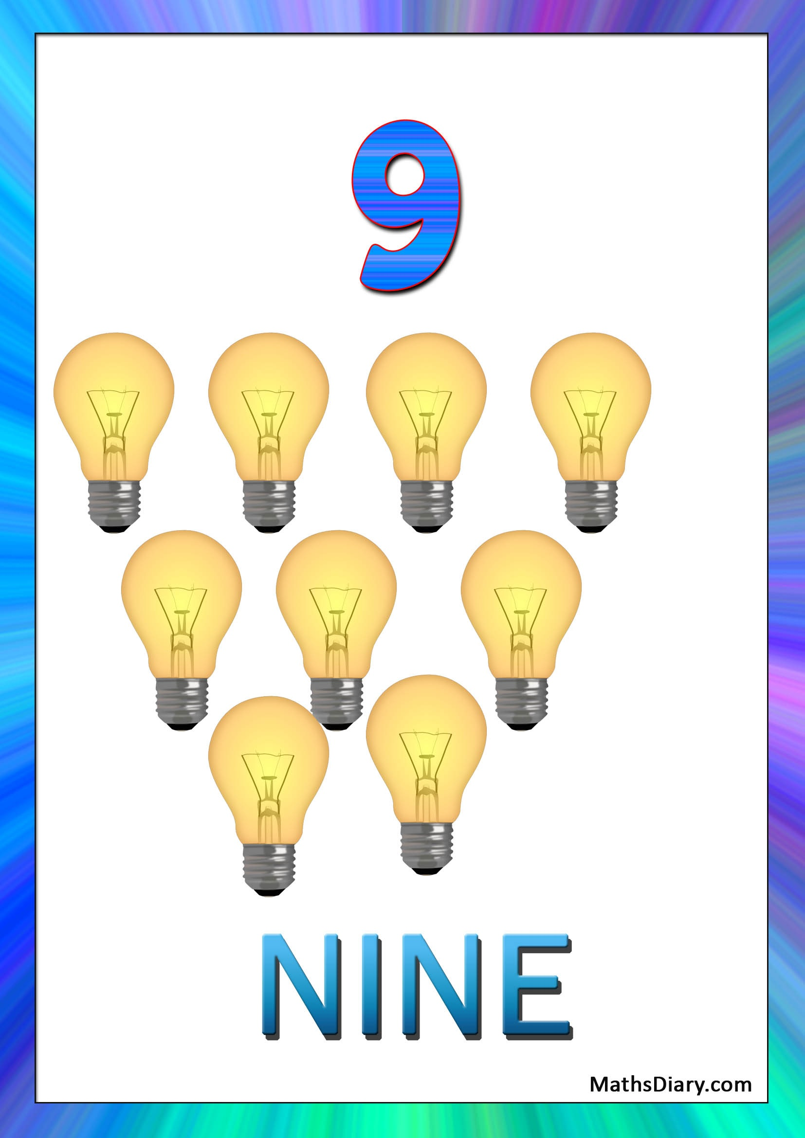 Recognition of numbers – Nursery Math Worksheets - Page 5