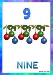 9 christmas decoration pieces