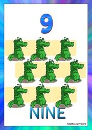9 crocodiles