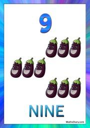9 eggplants