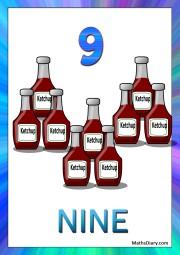 9 ketchup bottles