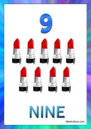 9 lipsticks