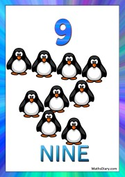 9 penguins