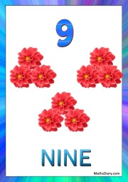 9 red flowers