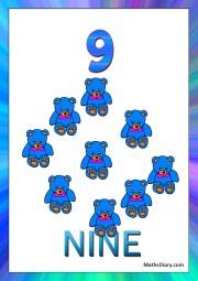9 teddy bears
