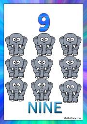 9 tiny elephants