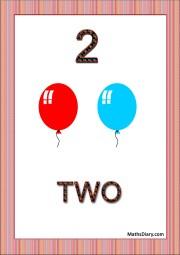 2 balloons