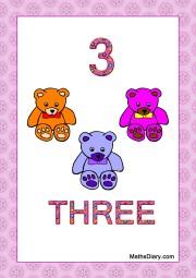3 teddies