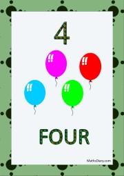 4 balloons