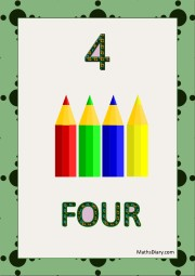 4 colorful pencils
