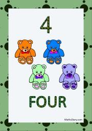4 teddies
