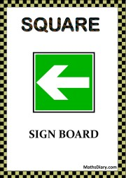 SQUARE SIGN