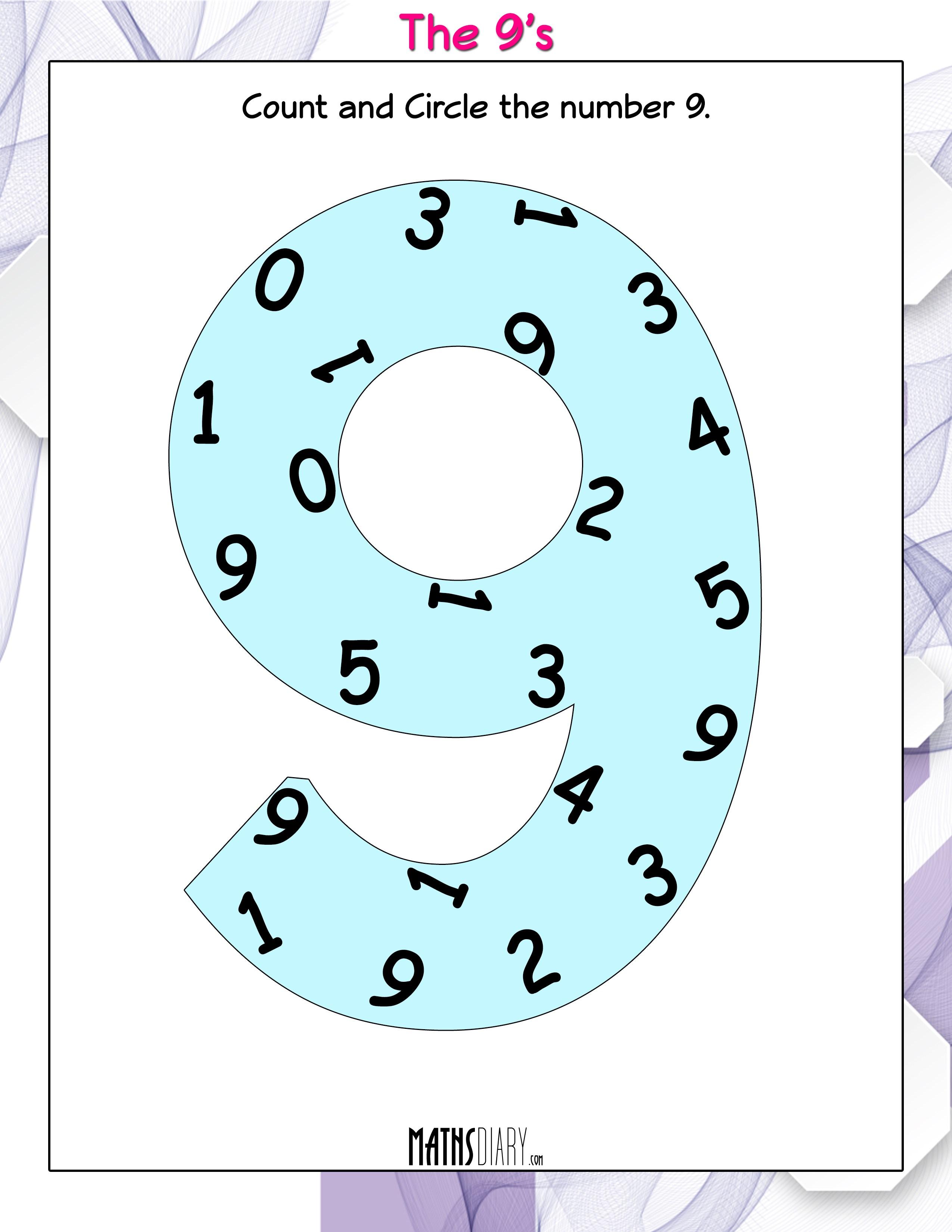 Counting - UKG Math Worksheets