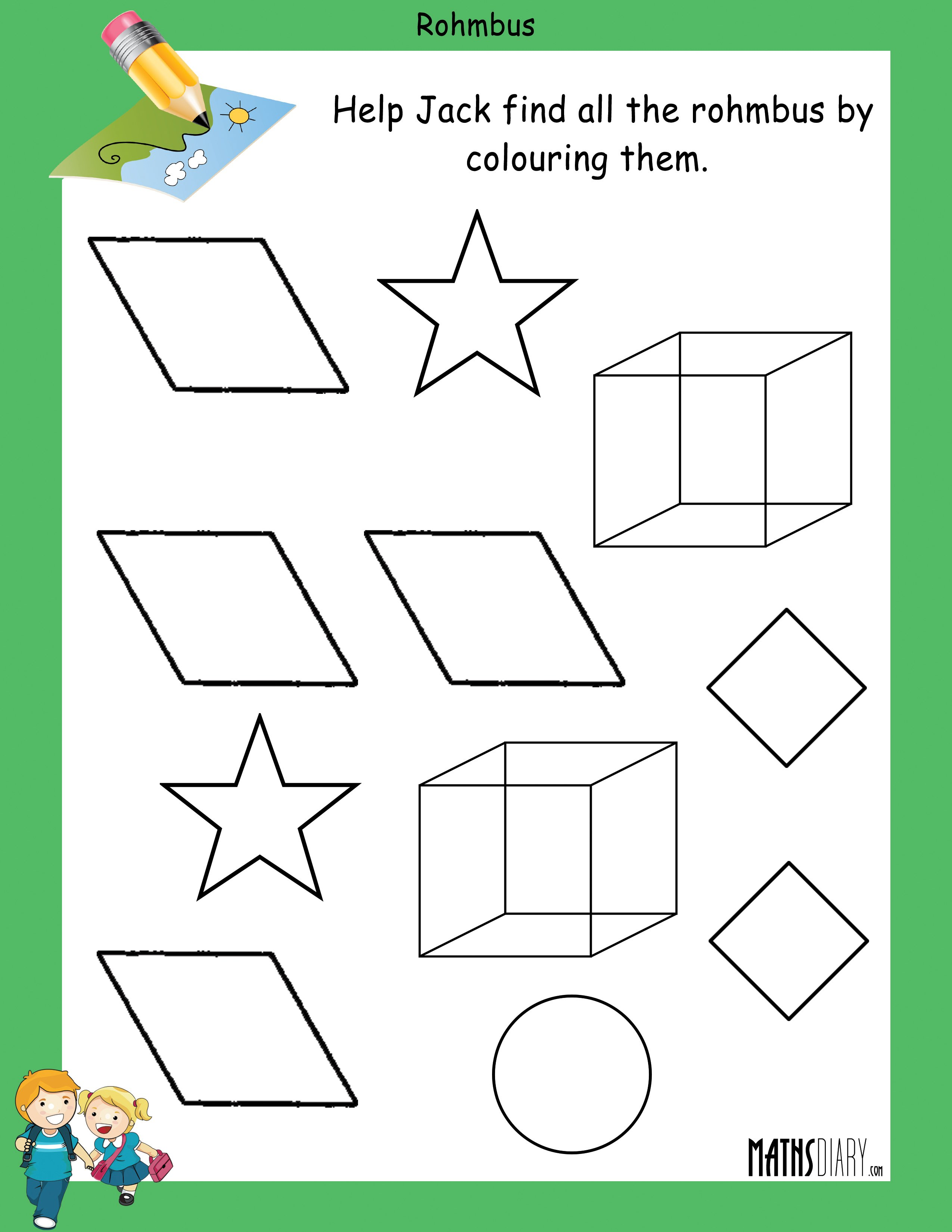 Finding Shapes Mathsdiary Com