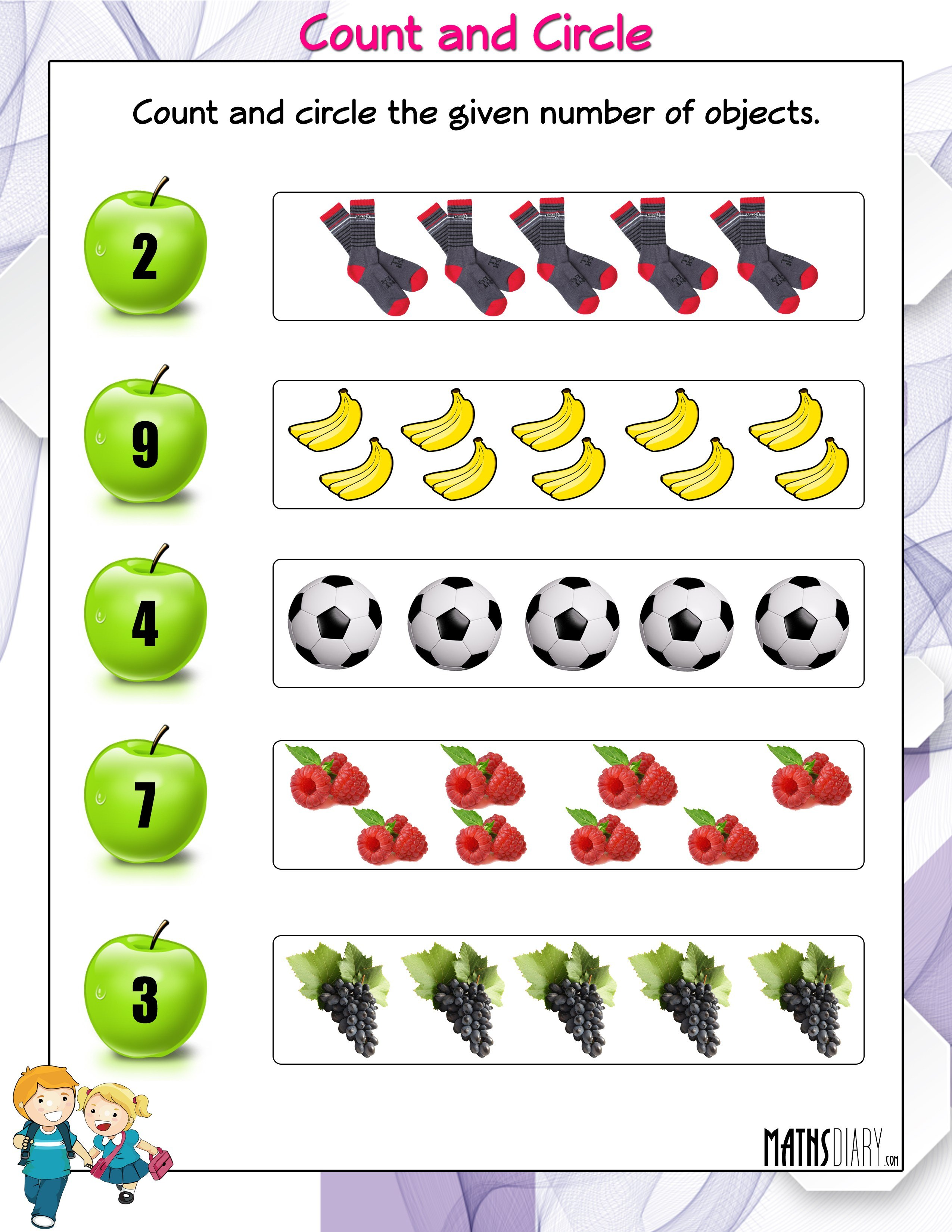 Counting – LKG Math Worksheets