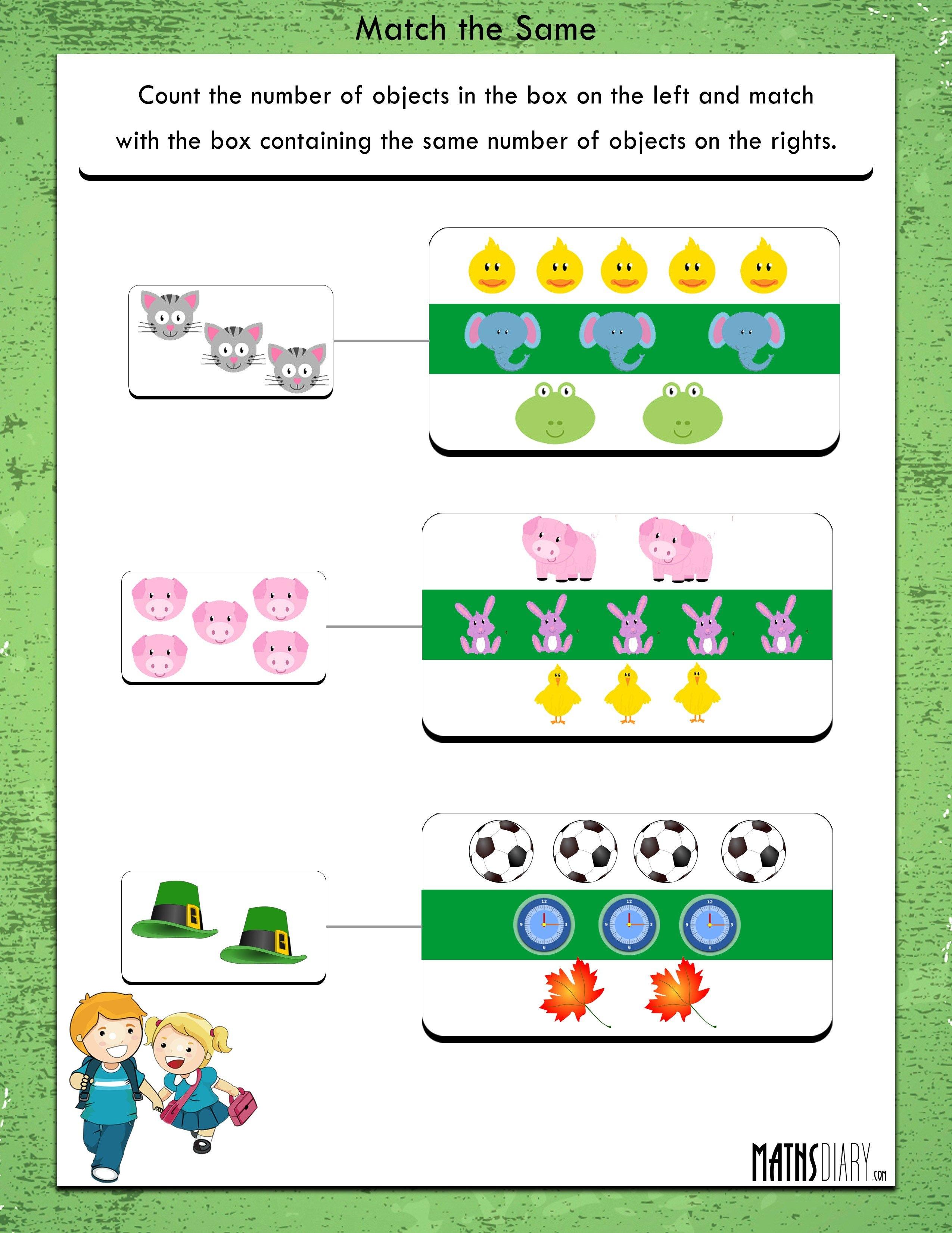 Nursery Math Worksheets - Page 8
