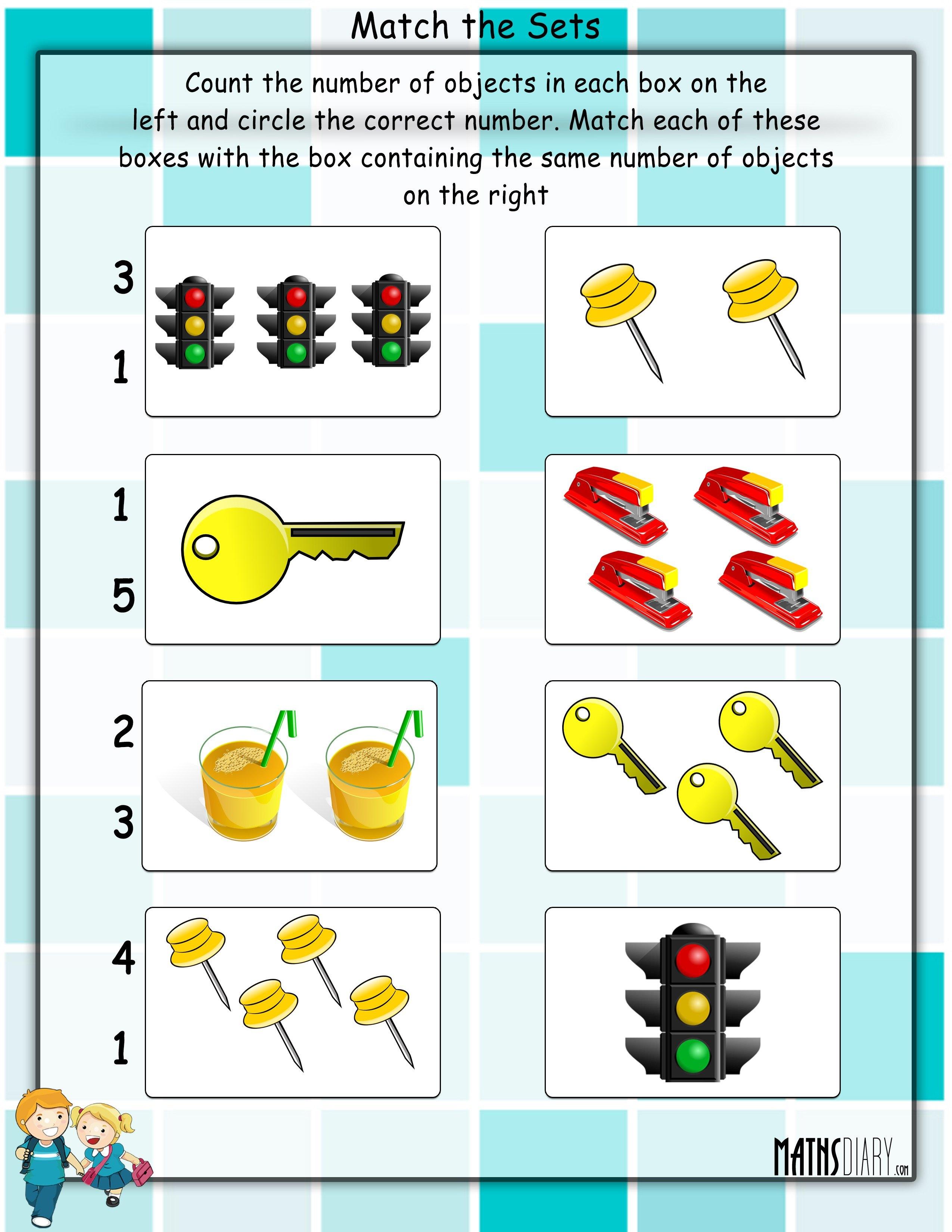 Practical Maths LKG Math Worksheets Page 3 – Math Sets Worksheets