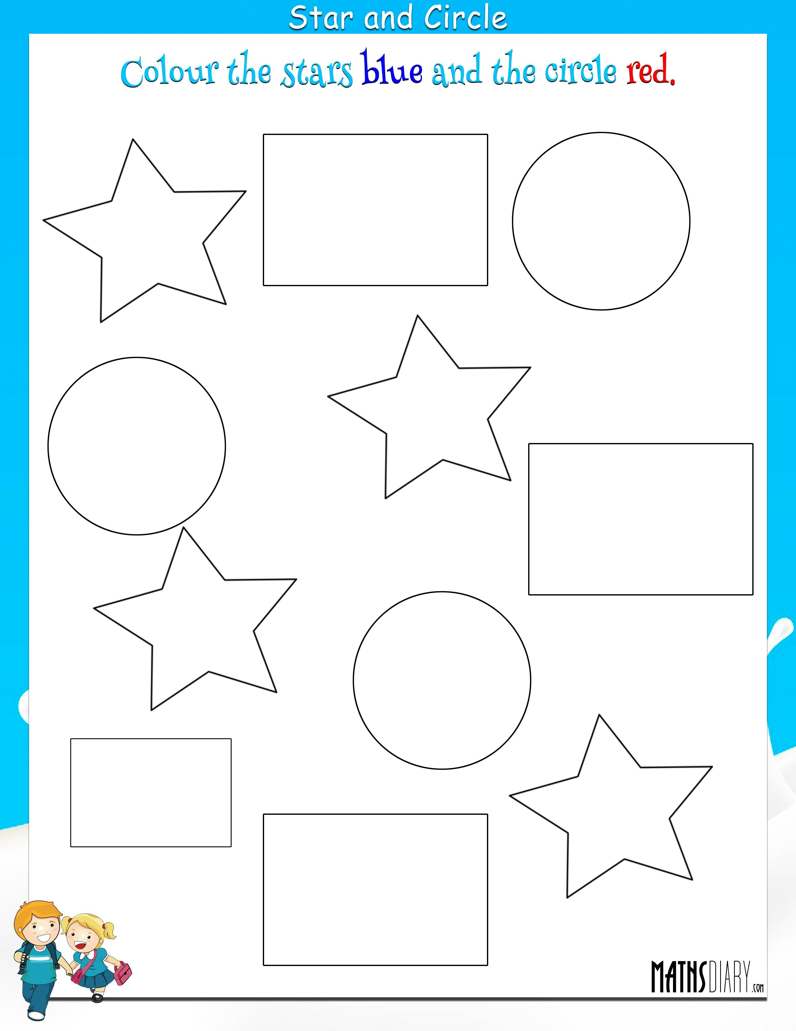 Worksheets Worksheets For Nursery colouring worksheets nursery math star and circle