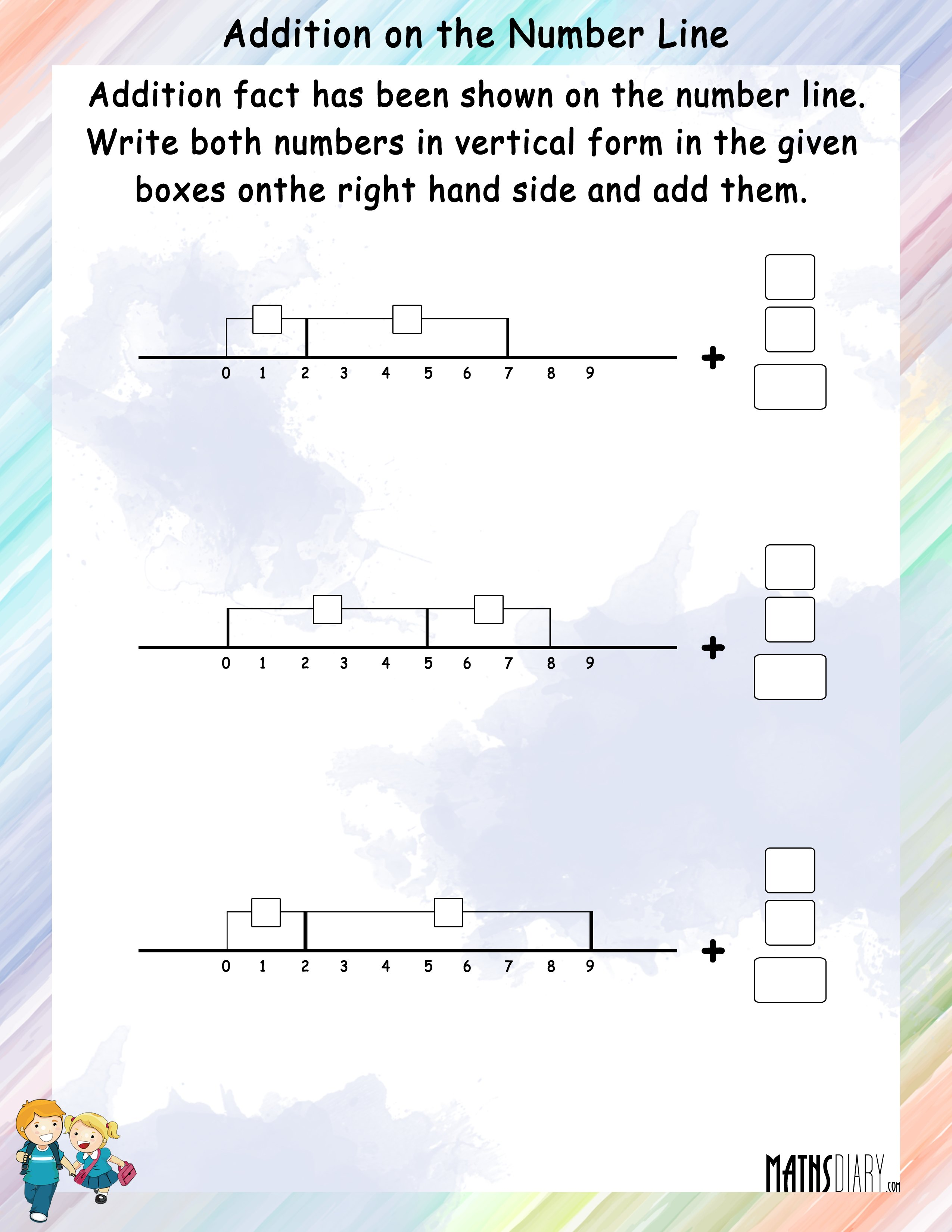Addition on a Number Line MathsDiary