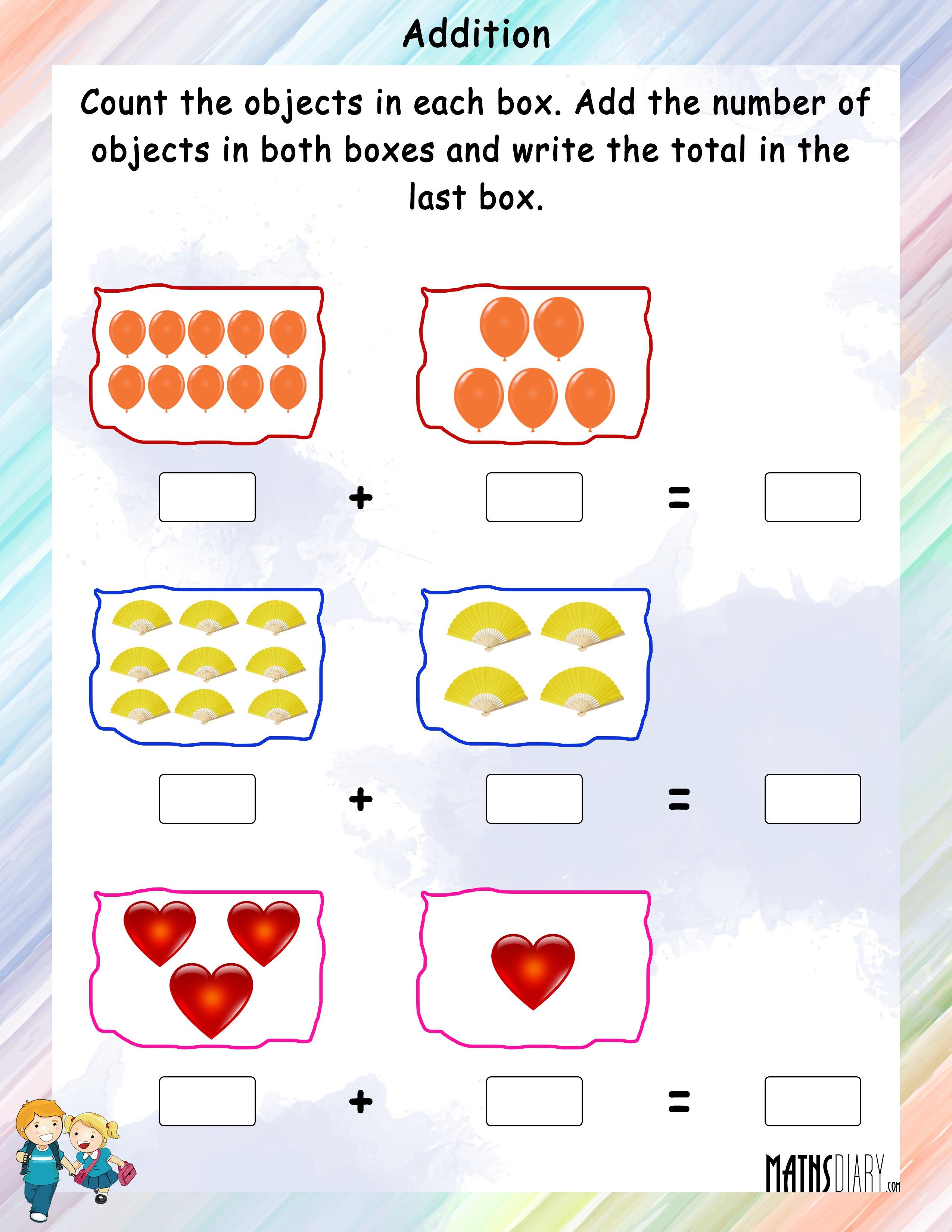 Addition - Nursery Math Worksheets