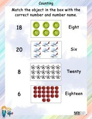 Counting and MAtching Worksheet 2