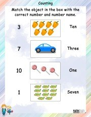 Counting and MAtching Worksheet 3