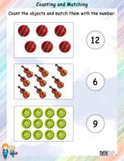 Counting and MAtching Worksheet 4