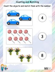 Counting and MAtching Worksheet 5