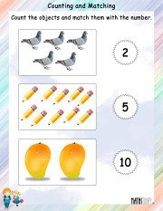 Counting and MAtching Worksheet 7