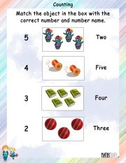 Counting and Matching Worksheet 1