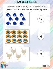 Counting and Matching Worksheet 12