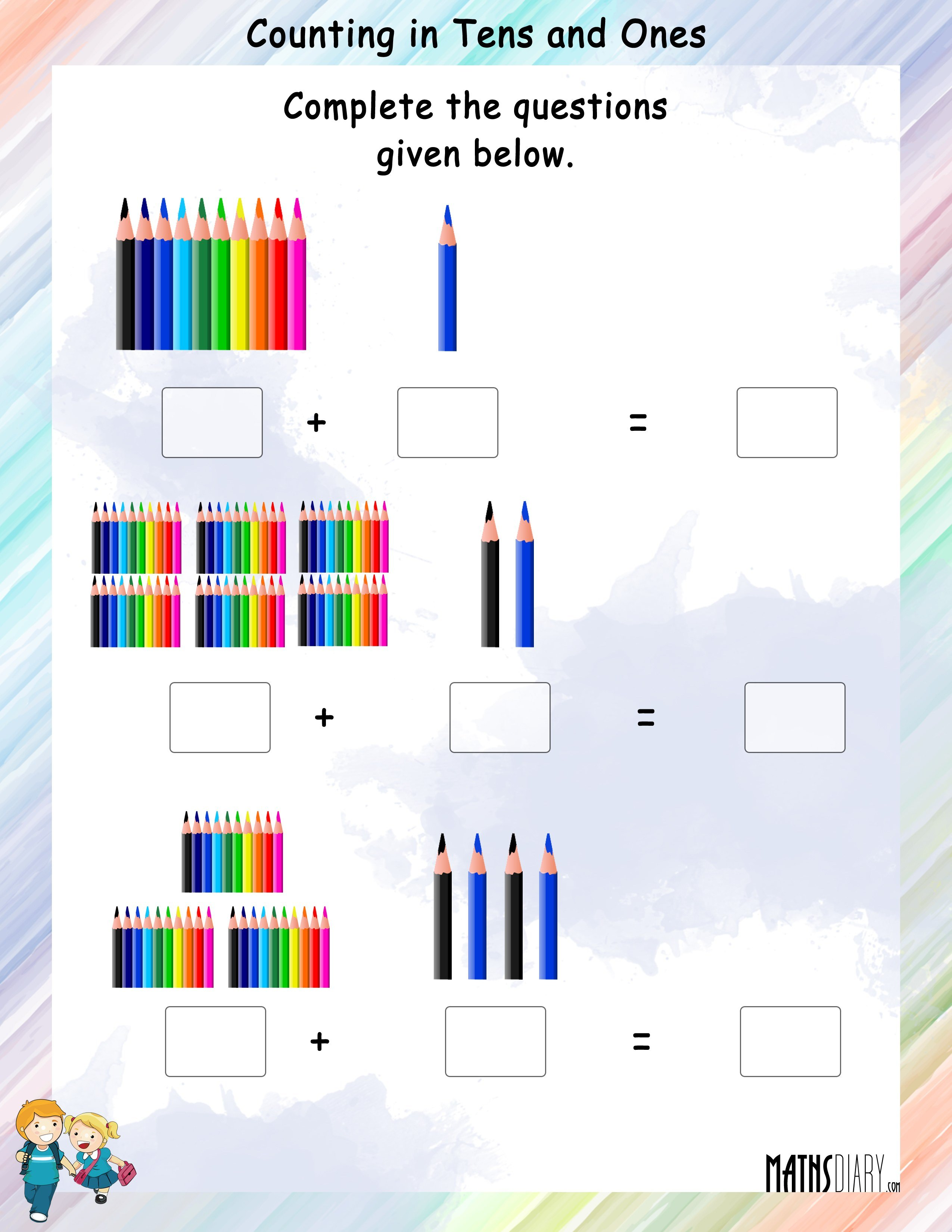 Abacus grade 1 math worksheets counting in tens and ones worksheet 5 robcynllc Choice Image